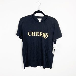 1901 Cheers Black Short Sleeve T-Shirt NWT